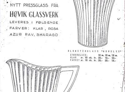 Pressglasskatalog – Nordlys